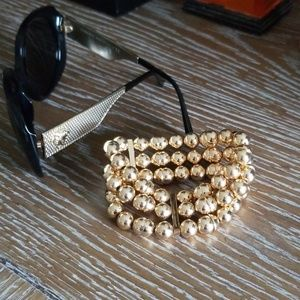 New WHBM Gold Bead Bracelet